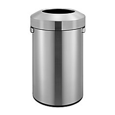 Open Stop Stainless Steel Commercial Trash Can