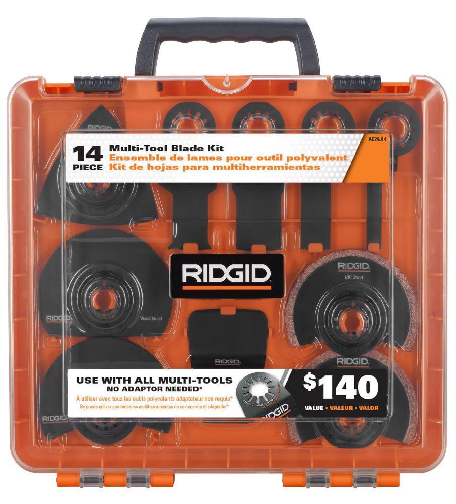 RIDGID JobMax Multi-Tool Blade Kit (14-Piece)