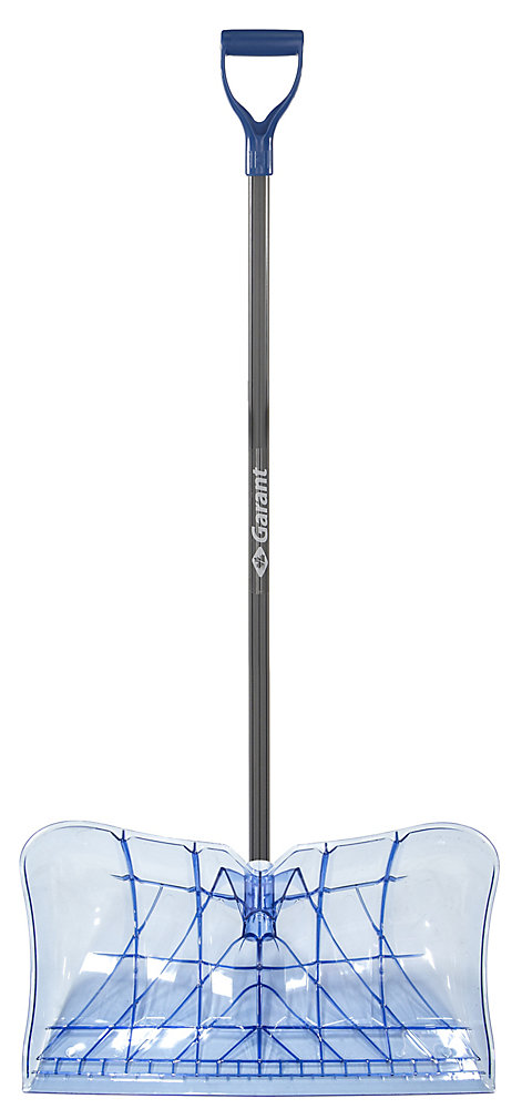 Garant 22-inch Snow Pusher w/ TPE comfort Handle and Resistant Polycarbonate Blade