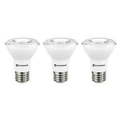 Ecosmart ECS Par20 6.5W (50W) BW 3000K Dim ES (3-Pack) - ENERGY STAR