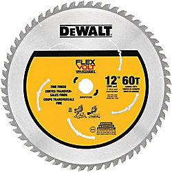 DEWALT FLEXVOLT 12-inch 60-Teeth Carbide-Tipped Miter Saw Blade