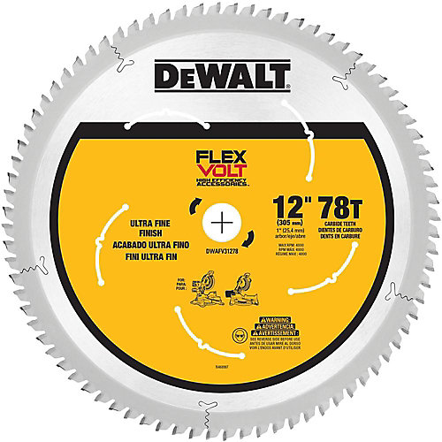 FLEXVOLT 12-inch 78-Teeth Carbide-Tipped Miter Saw Blade