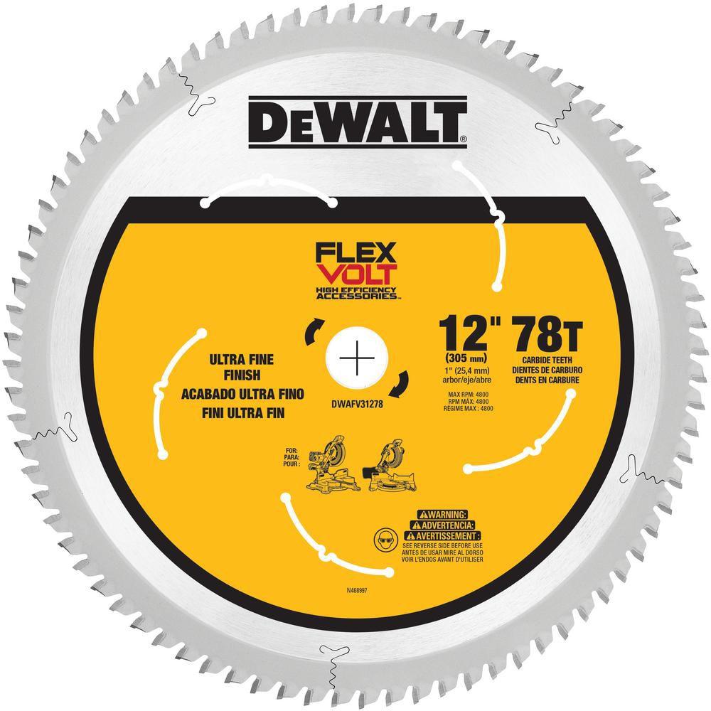 DEWALT FLEXVOLT 12-inch 78T Miter Saw Blade
