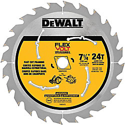 FLEXVOLT 7-1/4-inch 24-Teeth Carbide-Tipped Circular Saw Blade