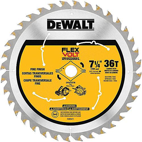 FLEXVOLT 7-1/4-inch 36-Teeth Carbide-Tipped Circular Saw Blade