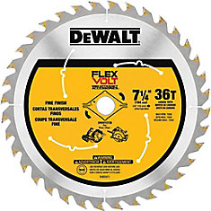 FLEXVOLT 7-1/4-inch 36-Teeth Carbide-Tipped Circular Saw Blade