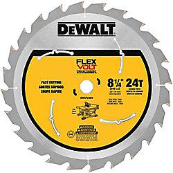 DEWALT FLEXVOLT 8-1/4-inch 24-Teeth Carbide-Tipped Table Saw Blade