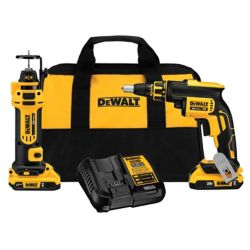 DEWALT 20V MAX XR Li-Ion Cordless Drywall Screwgun/Cut-out Tool Combo Kit (2-Tool) w/ (2) Batteries 2Ah and Charger