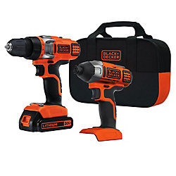 BLACK+DECKER BDCD220IA-1 20V MAX 2-Speed Drill Driver + Impact Driver Combo Kit