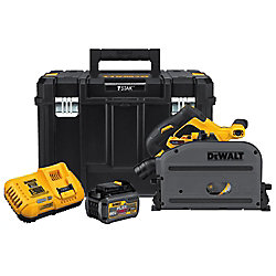 FLEXVOLT 60V MAX Li-Ion Cordless Brushless 6-1/2-inch Track Saw Kit w/ Battery 2Ah, Charger and Case