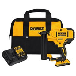 DEWALT 20V MAX XR 18 GA Cordless Narrow Crown Stapler Kit
