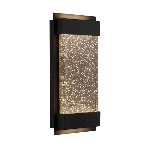 Artika Bubbled Essence Glow Box Black LED Integrated Outdoor Light