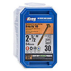 KREG 14X2-1/2 PCKT SCRW 30PCS