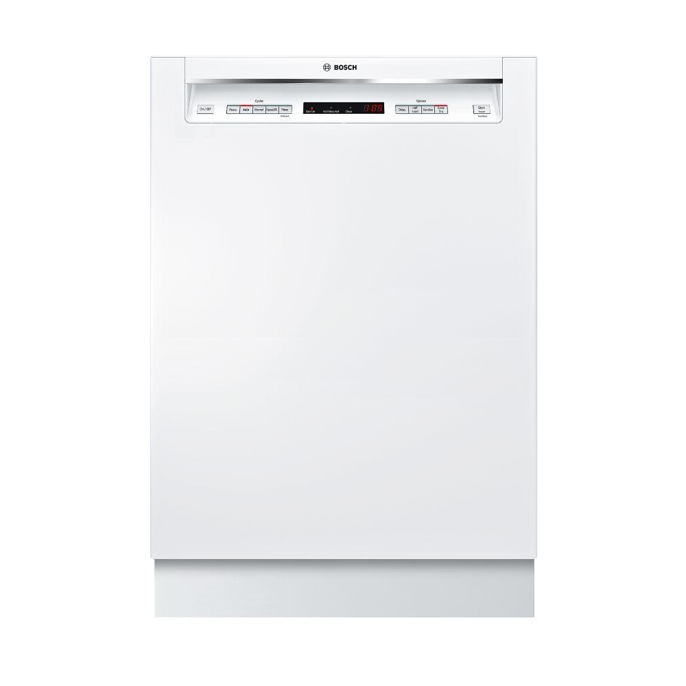 Bosch 300 Series - 24 inch Dishwasher w/ Recessed Handle - 44 dBA - Standard 3rd Rack