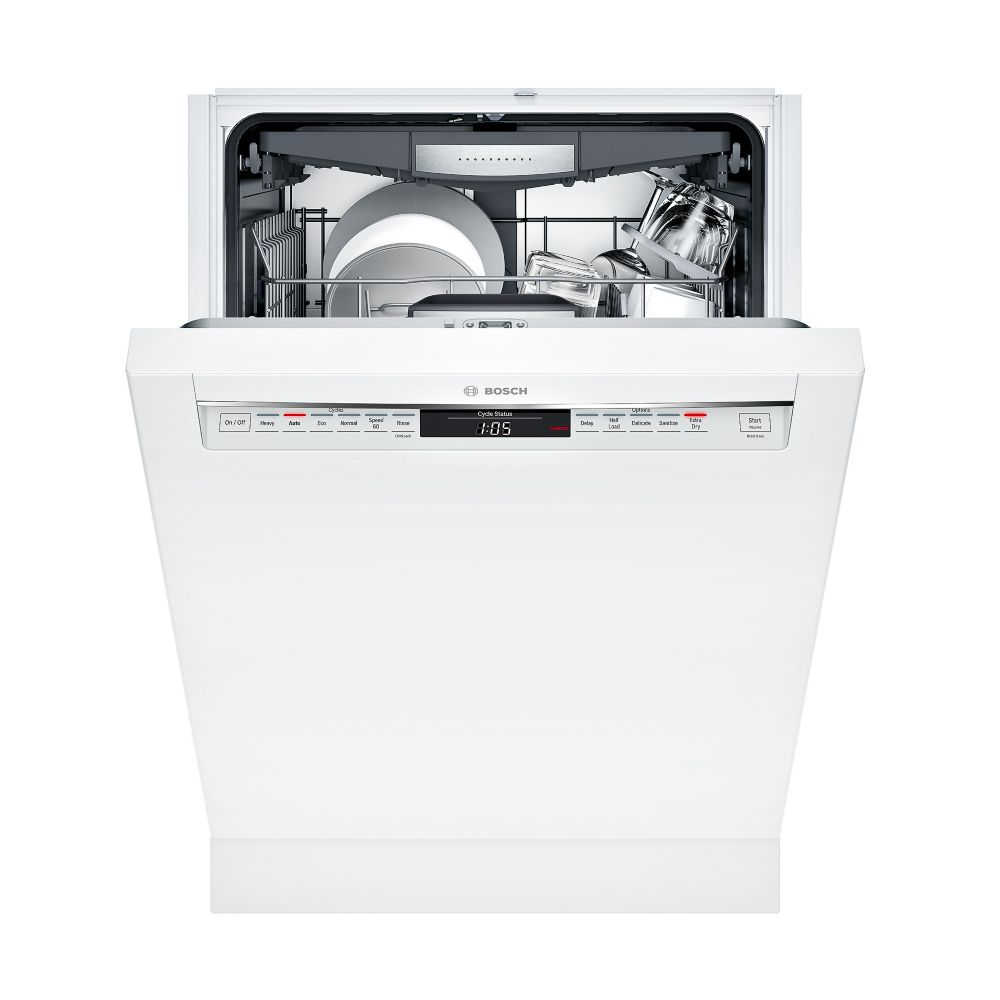 Bosch 800 Series - 24 inch Dishwasher w/ Recessed Handle - 42 dBA -  Flexible 3rd Rack