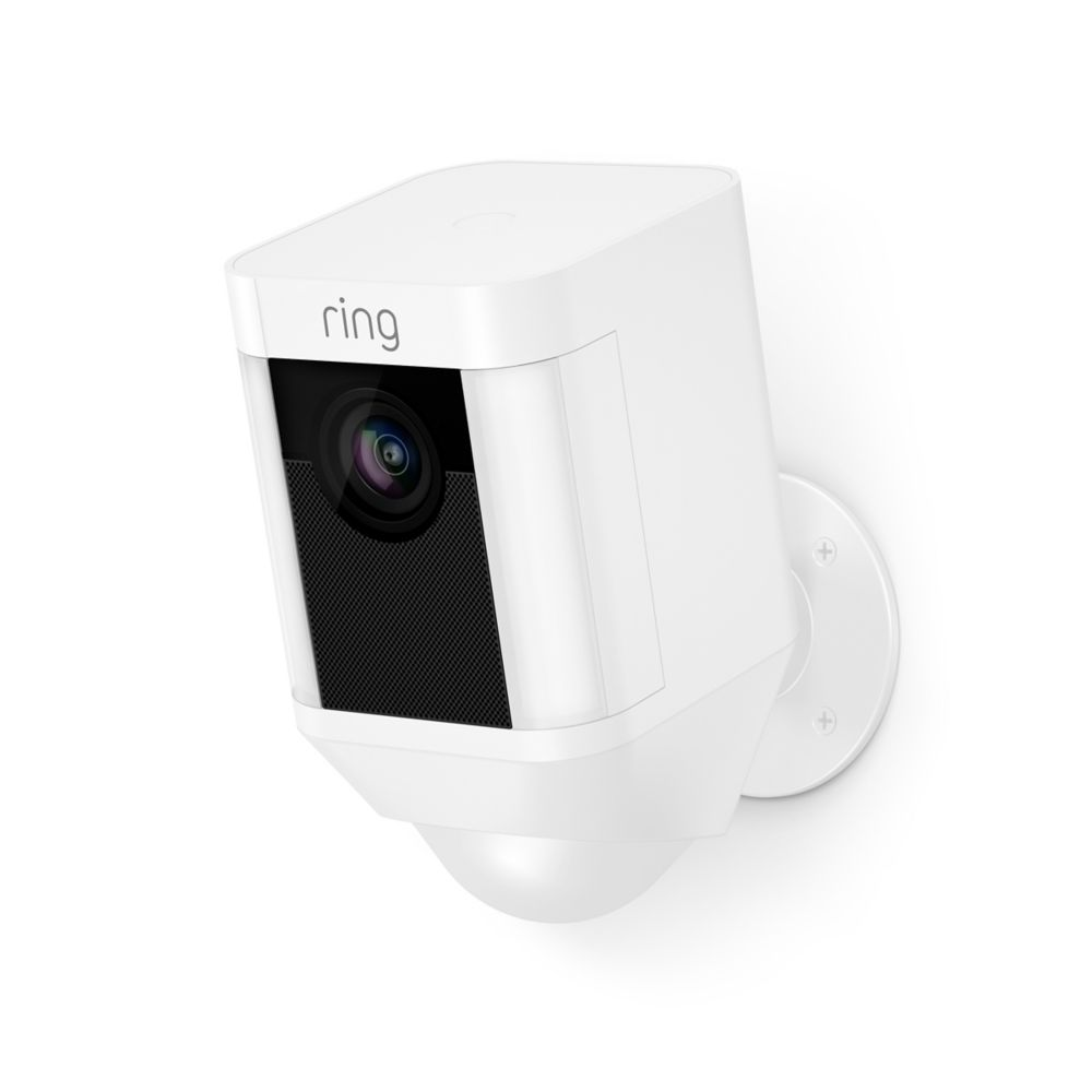 Battery Operated Security Camera >> Ring Spotlight Security Camera In White Battery Operated The