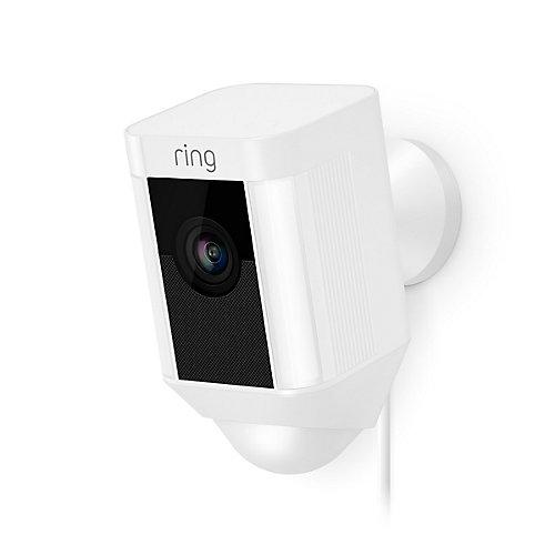Spotlight Security Camera in White (Hardwired)