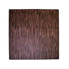 24-inch x 24-inch Dark Wood Anti-Fatigue Interlocking Mat