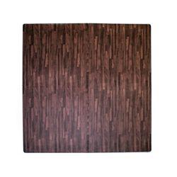 Home Decor 24-inch x 24-inch Dark Wood Anti-Fatigue Interlocking Mat