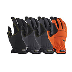 High Performance Synthetic Leather Extra Large Utility Gloves (4-Pack)
