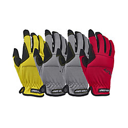 Firm Grip High Performance Synthetic Leather Large Utility Gloves (4-Pack)