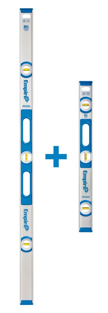 Empire True Blue 48-Inch I-Beam Level with BONUS 24-Inch Level