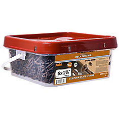 #6 x 1-5/8-inch Square Drive Flat Head Deck Screw UNC in Brown - 3000pcs