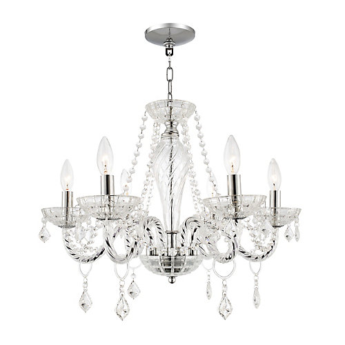 Home Decorators Collection 6 Light Crystal Chandelier The Home