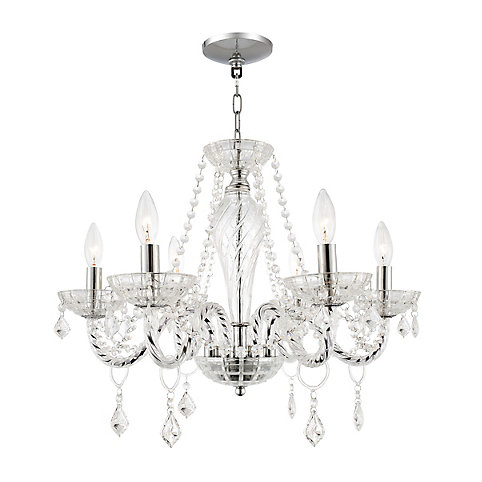 Home decorators collection 6 light crystal chandelier the home depot canada