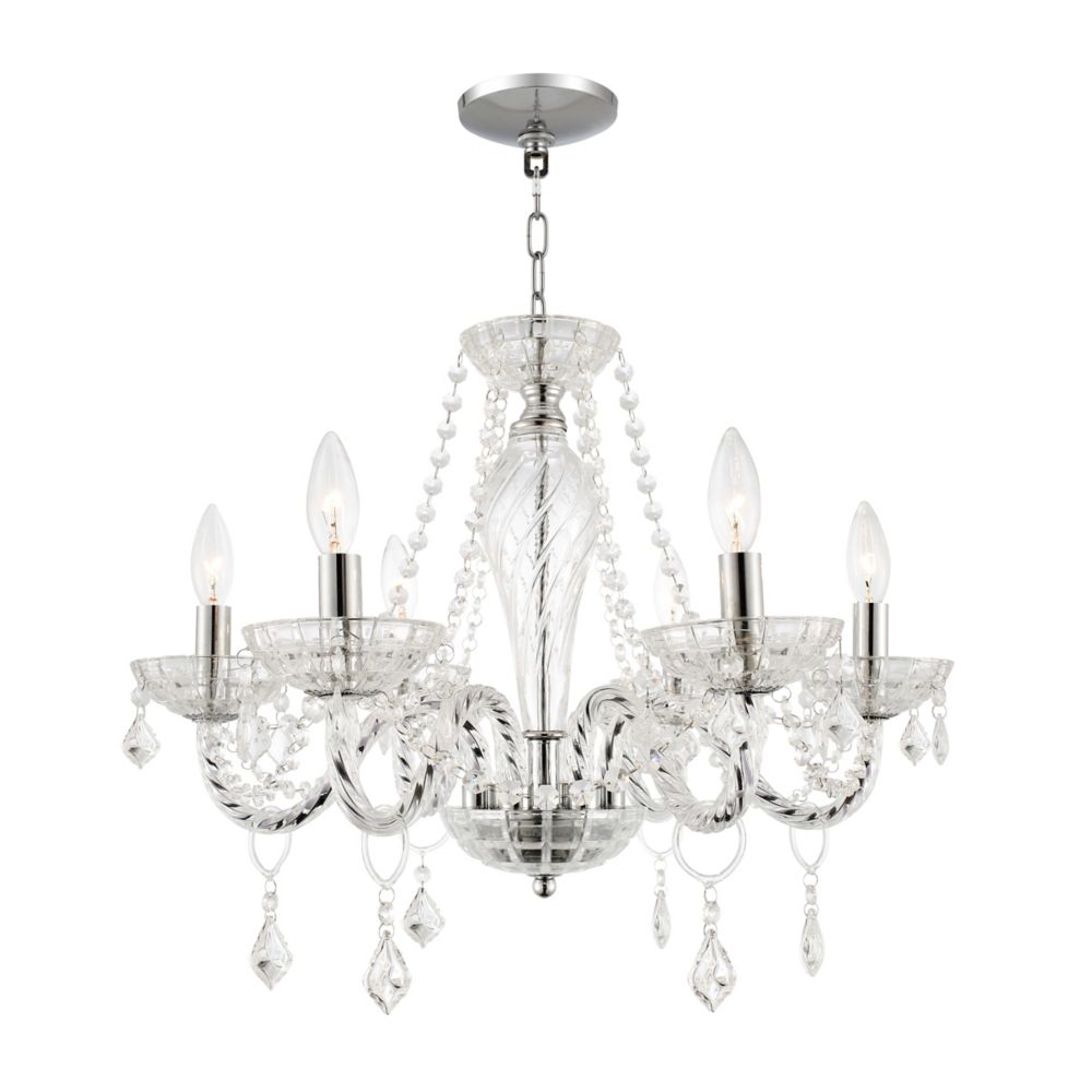 Home Decorators Collection 6 Light Crystal Chandelier The Depot Canada