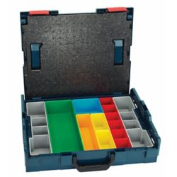 Bosch 17-1/2 Inch x 14 Inch x 4-1/2 Inch Stackable Carrying Case with 13-Piece Insert Set