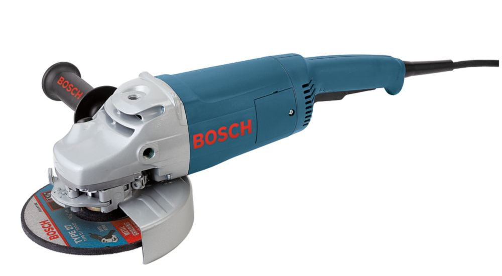Bosch 15 Amp Corded 7-inch Large Angle Grinder with Rat Tail