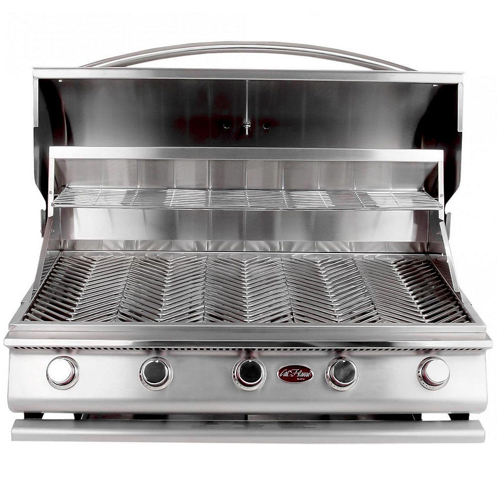 Gourmet Series 5-Burner Built-In Stainless Steel Propane BBQ