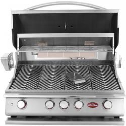 Cal Flame 4-Burner Built-In Stainless Steel Propane BBQ with Accessory Kit