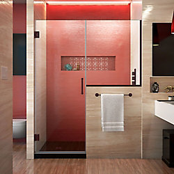 Unidoor Plus 58.50-inch x 72-inch Frameless Rectangular Clear Shower Door with Bronze Hardware