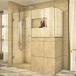 DreamLine Unidoor Plus 36-inch x 36-3/8-inch x 72-inch Frameless Pivot Shower Enclosure in Brushed Nickel