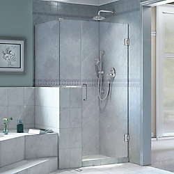 DreamLine Unidoor Plus 36-inch x 40-3/8-inch x 72-inch Frameless Pivot Shower Enclosure in Chrome