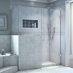 DreamLine Unidoor Plus 48-inch x 36-3/8-inch x 72-inch Frameless Pivot Shower Enclosure in Chrome