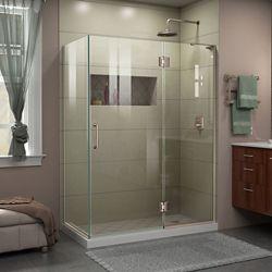 DreamLine Unidoor-X 47 3/8 inch W x 30 inch D x 72 inch H Shower Enclosure in Brushed Nickel