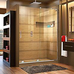 DreamLine Mirage-X 60-inch x 72-inch Frameless Rectangular Sliding Clear Shower Door with Chrome Hardware