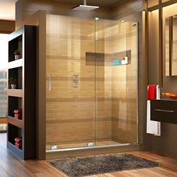 DreamLine Mirage-X 60-inch x 72-inch Frameless Rectangular Sliding Clear Shower Door with Chrome Hardware
