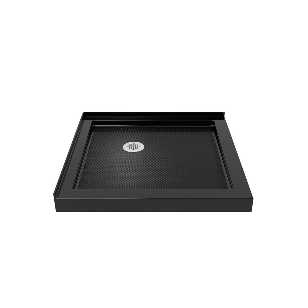 DreamLine SlimLine 36-inch x 36-inch Double Threshold Shower Base in Black colour