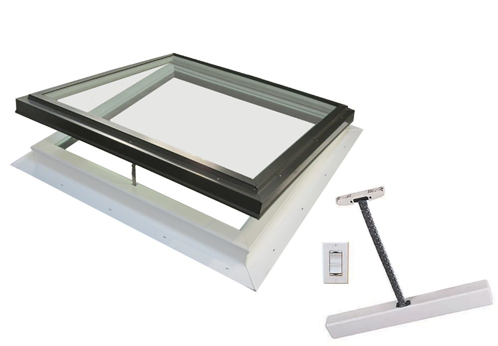 Columbia Skylights Venting Electric Standard Self Flashing LoE3 Clear Glass- 2 Feet x 2 Feet