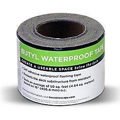 Rain Escape Deck Drainage System 4 inch x 50 ft. Butyl Tape Roll