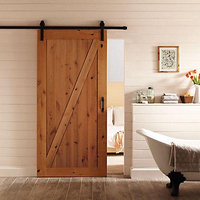 Masonite 36 Inch X 84 Inch Z Bar Knotty Alder Wood Interior Barn