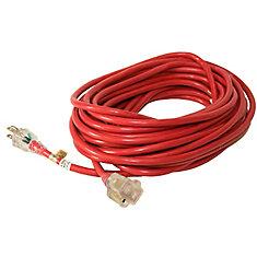 SJTW 14/3 15.2M (50Feet) Single Lit end - RED