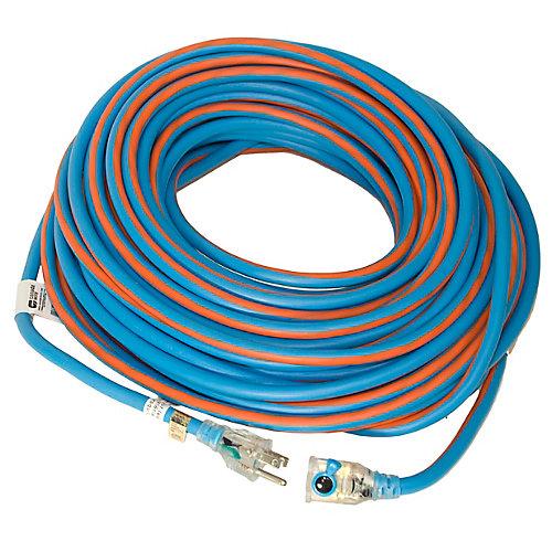 SJEOW 12/3 30.4M (100Feet) Single Lit Locking end - Orange/Blue
