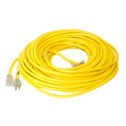 Canada Wire SJTW 12/3 30.4M (100Feet) Single Lit end - YELLOW