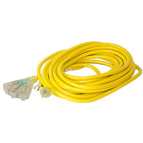 SJTW 12/3 15.2M (50Feet) Triple Fantail Lit end - YELLOW