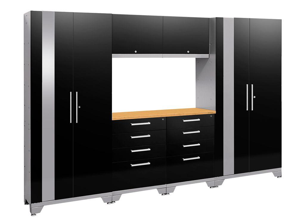 Performance 2.0 72-inch H x 108-inch W x 18-inch D Garage Cabinet Set in Black (7-Piece)